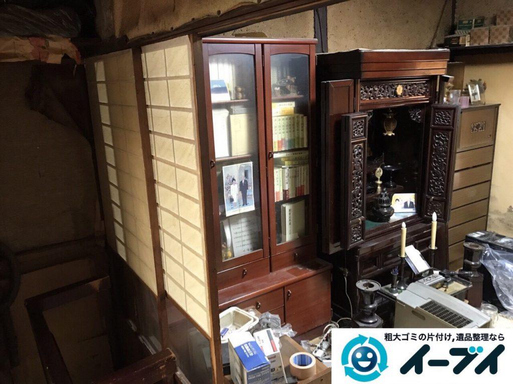 2017年5月22日大阪府大阪市城東区で空き家の室外機や家財道具の不用品回収をしました。写真1