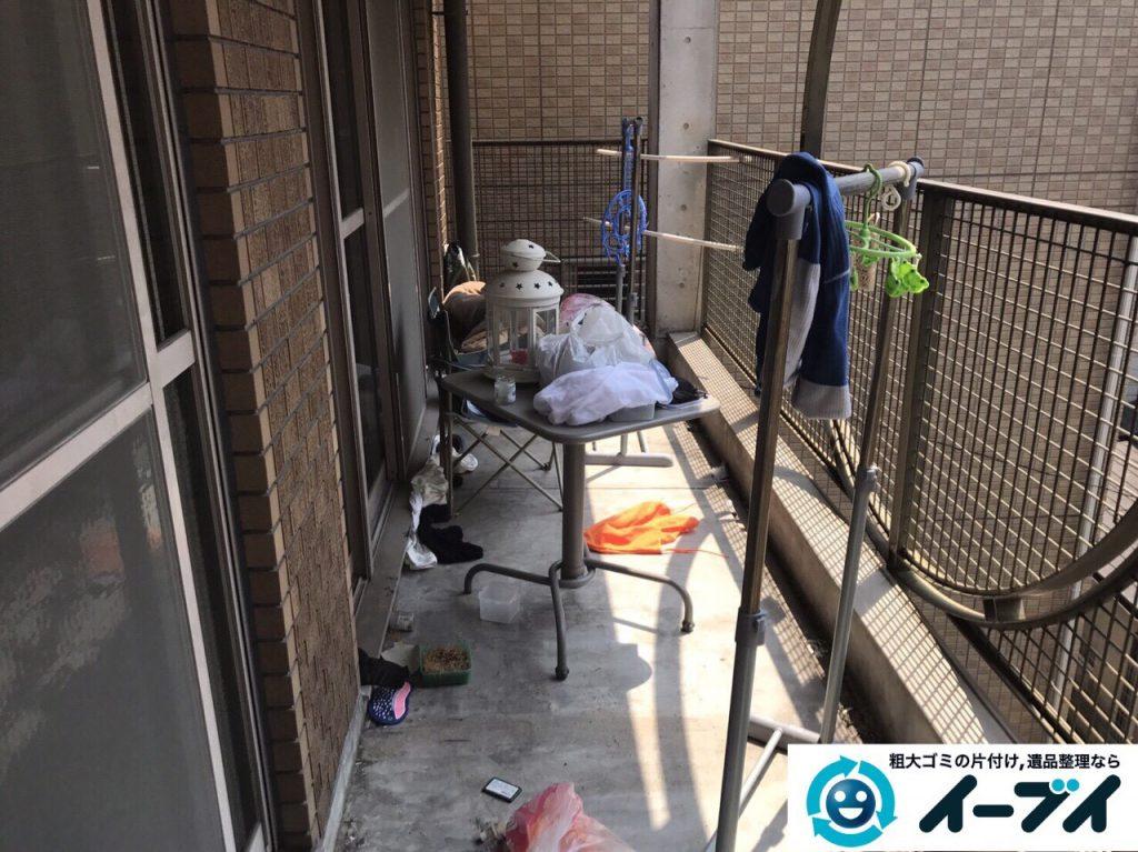 2017年5月28日大阪府大阪市北区でベランダの廃品や粗大ゴミの不用品回収をしました。写真3