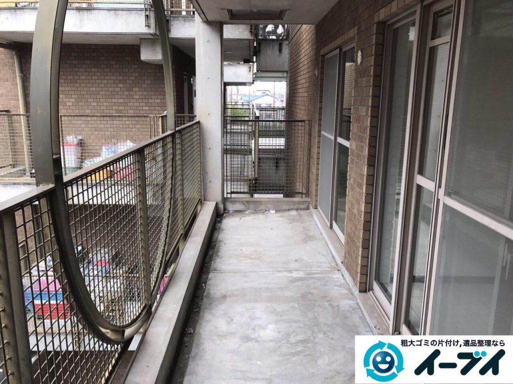 2017年5月28日大阪府大阪市北区でベランダの廃品や粗大ゴミの不用品回収をしました。写真2