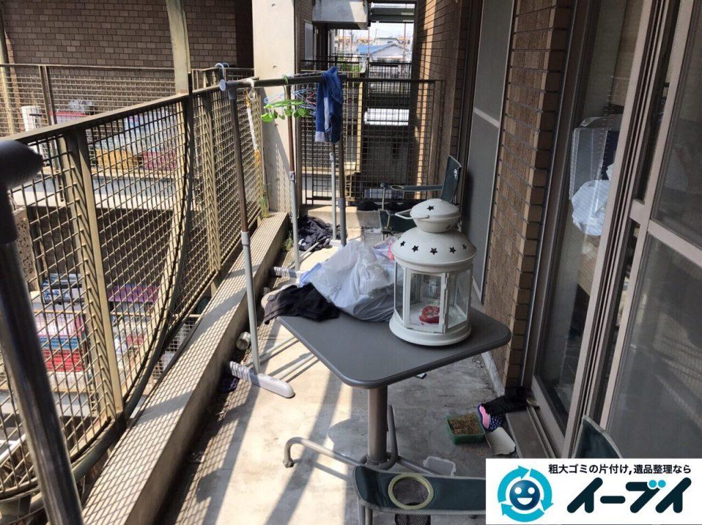 2017年5月28日大阪府大阪市北区でベランダの廃品や粗大ゴミの不用品回収をしました。写真1