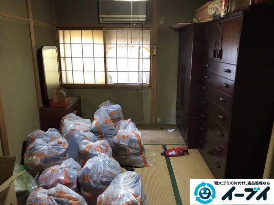2017年6月8日大阪府八尾市で実家の残置物の処分のご依頼をいただき不用品回収を行いました。写真2