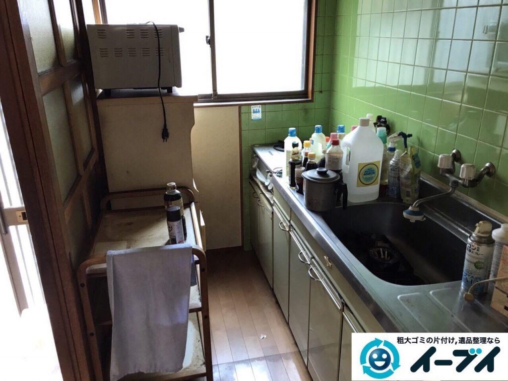 2017年6月6日大阪府大阪市平野区で遺品整理伴い家具処分や生活ゴミの片付けの依頼をいただきました。写真5