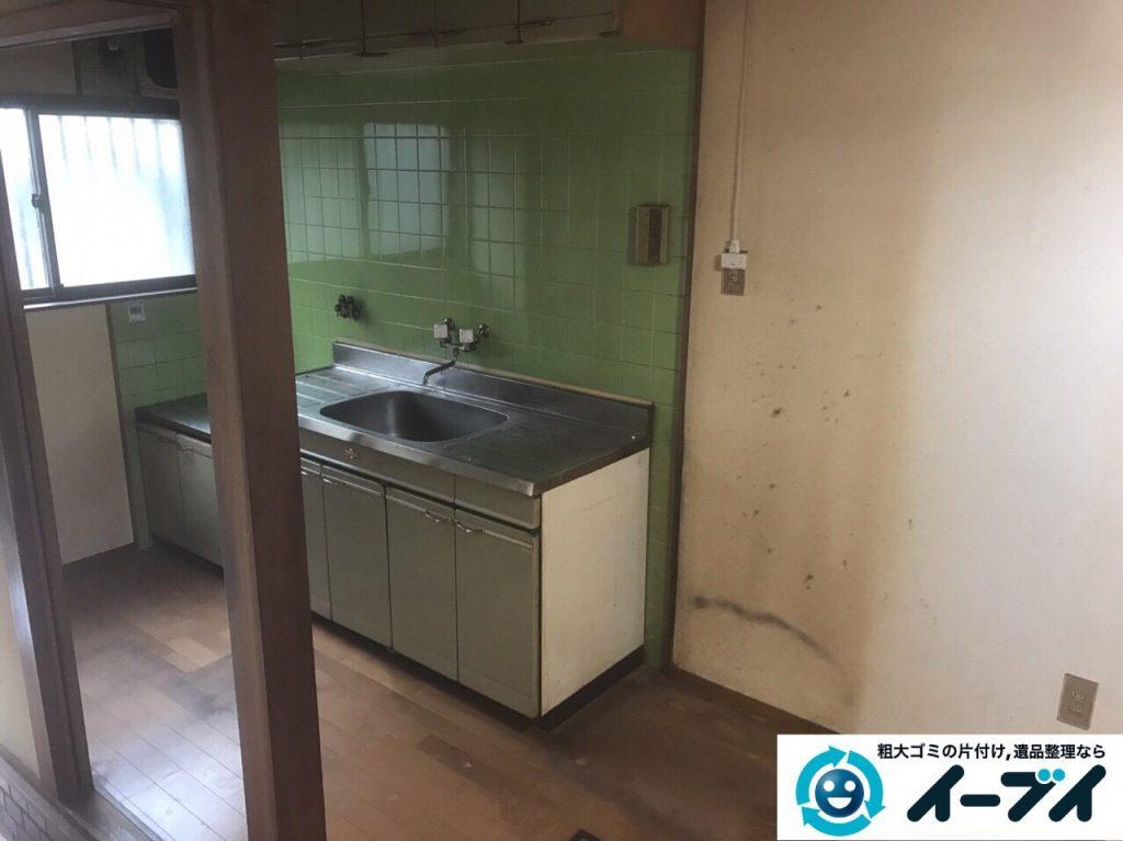 2017年6月6日大阪府大阪市平野区で遺品整理伴い家具処分や生活ゴミの片付けの依頼をいただきました。写真4
