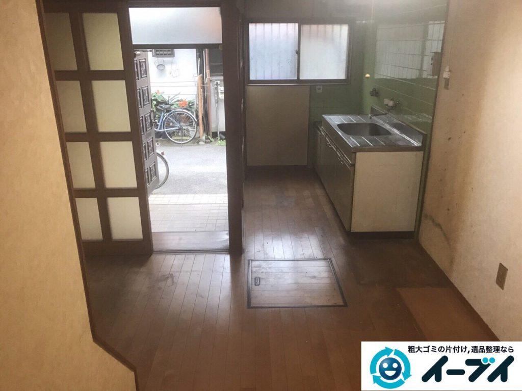 2017年6月6日大阪府大阪市平野区で遺品整理伴い家具処分や生活ゴミの片付けの依頼をいただきました。写真2