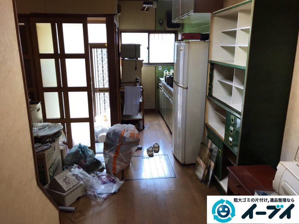 2017年6月6日大阪府大阪市平野区で遺品整理伴い家具処分や生活ゴミの片付けの依頼をいただきました。写真1
