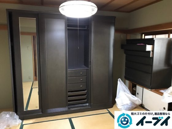 2017年6月20日大阪府大阪市阿倍野区で婚礼家具やベッドフレームの不用品回収をしました。写真6