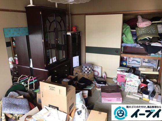 2017年7月16日大阪府大阪市東淀川区で遺品整理の依頼を受け家具や粗大ゴミの処分をしました。写真3