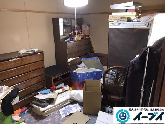 2017年7月8日大阪府大阪市此花区で遺品整理に伴い家具や粗大ゴミの処分をしました。写真2