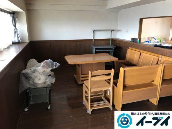 2017年7月20日大阪府大阪市北区でダイニングテーブルのセットや粗大ゴミを不用品回収しました。写真5