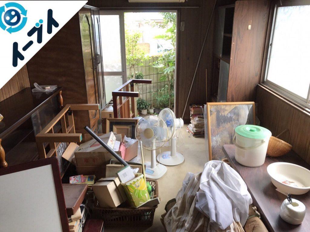 2017年8月4日大阪府千早赤阪村で遺品整理に伴い家具や廃品の処分をしました。写真4