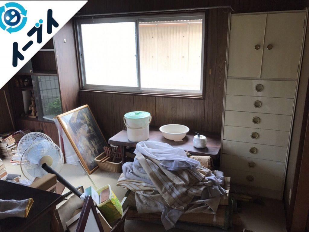 2017年8月4日大阪府千早赤阪村で遺品整理に伴い家具や廃品の処分をしました。写真2