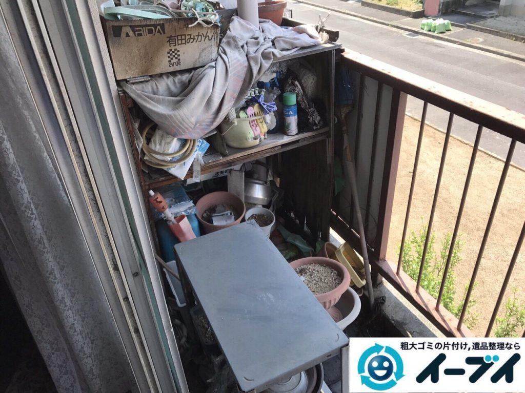 2017年8月1日大阪府守口市で遺品整理の依頼を受け片付け作業をしました。写真3