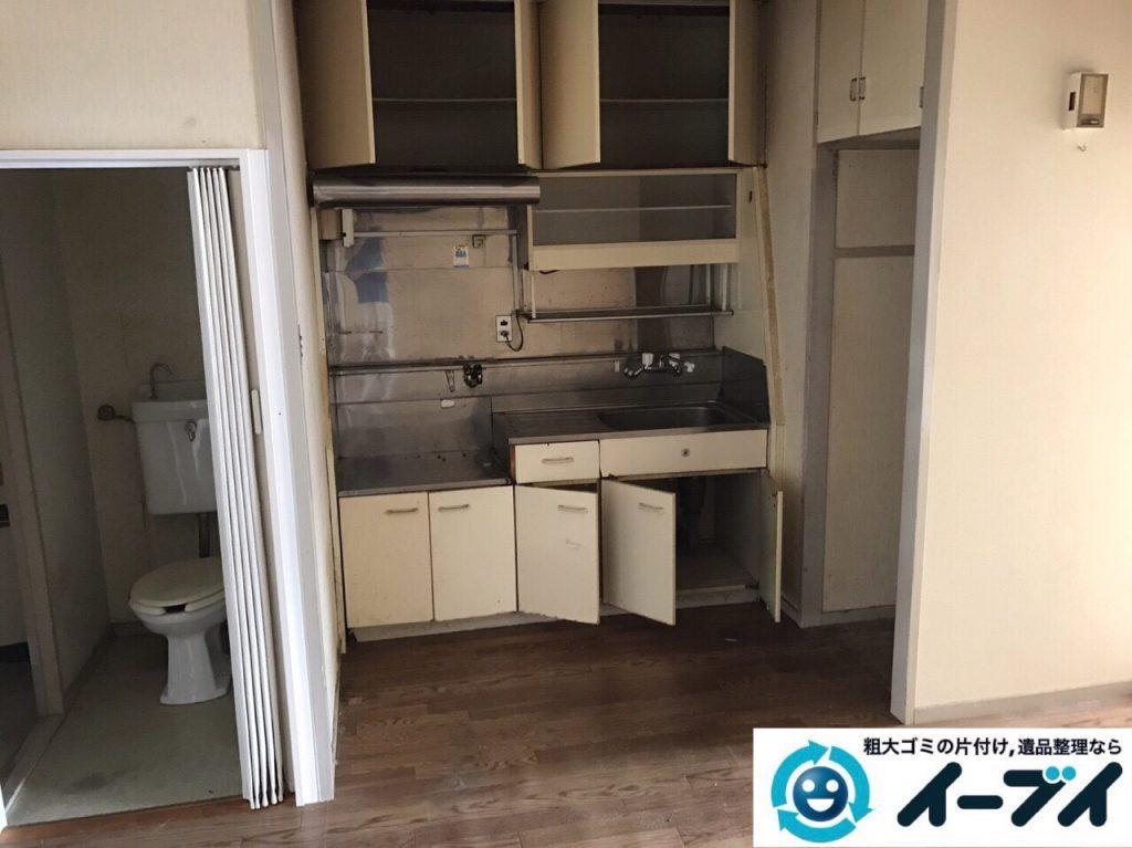 2017年8月2日大阪府寝屋川市で遺品整理の作業で食器や大型家具の処分をしました。写真4