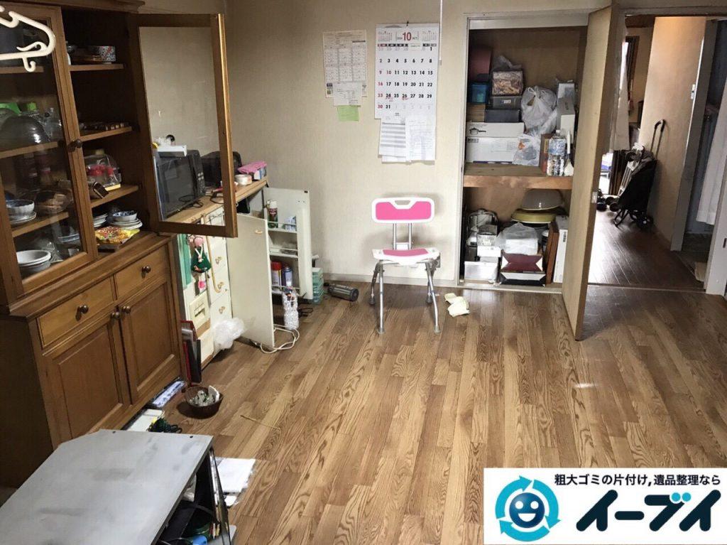 2017年8月2日大阪府寝屋川市で遺品整理の作業で食器や大型家具の処分をしました。写真3