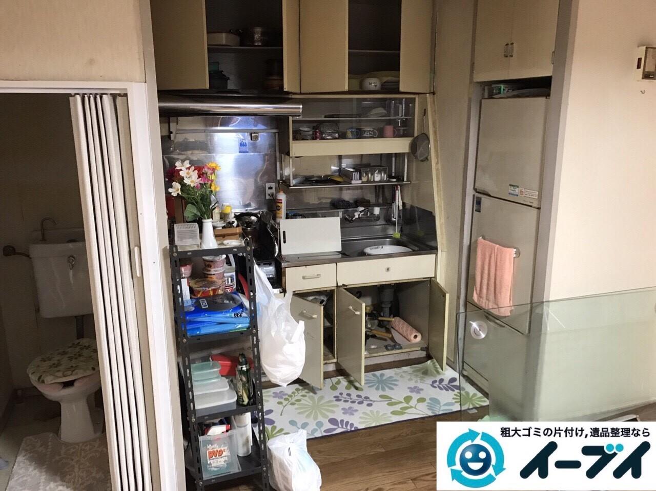 2017年8月2日大阪府寝屋川市で遺品整理の作業で食器や大型家具の処分をしました。写真5