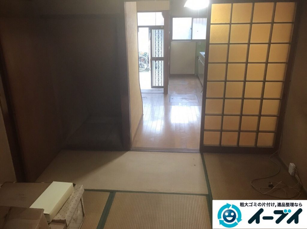 2017年8月17日大阪府八尾市で遺品整理の依頼を受け遺品処分や家具処分をしました。写真4