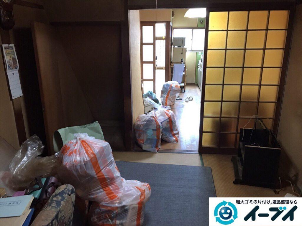 2017年8月17日大阪府八尾市で遺品整理の依頼を受け遺品処分や家具処分をしました。写真3