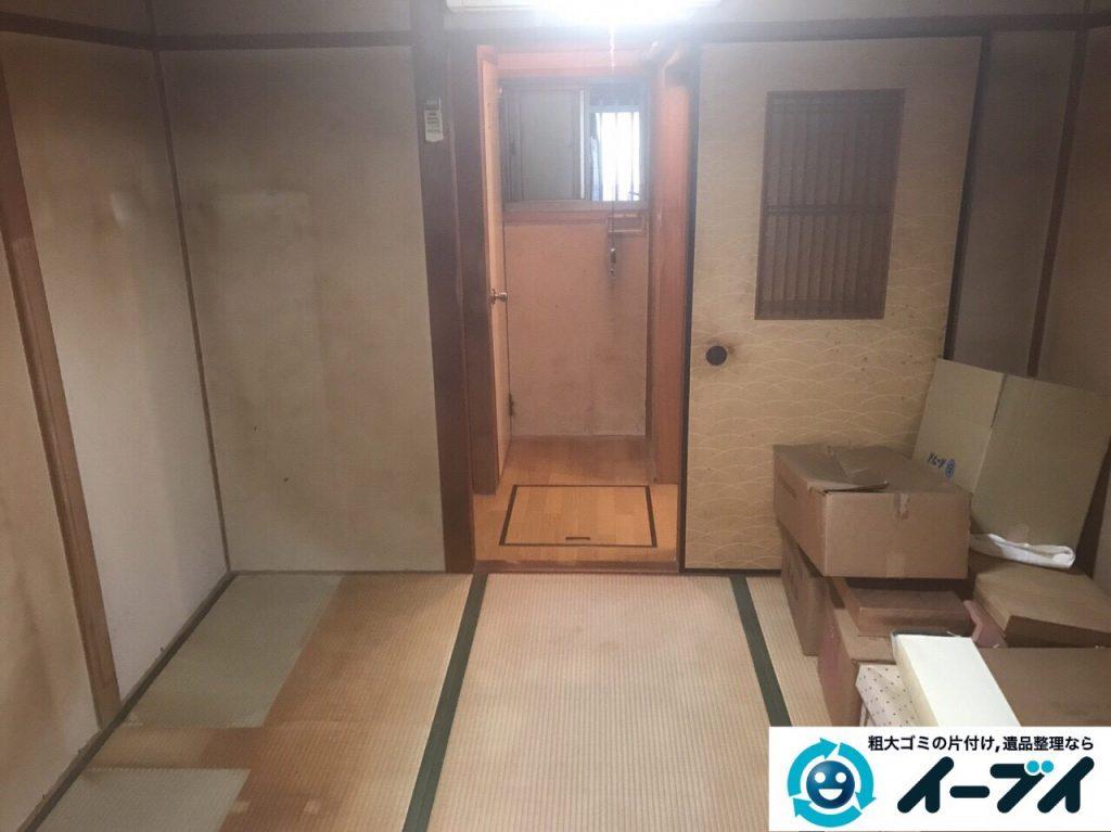 2017年8月17日大阪府八尾市で遺品整理の依頼を受け遺品処分や家具処分をしました。写真2