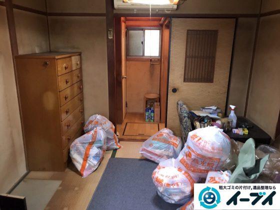 2017年8月17日大阪府八尾市で遺品整理の依頼を受け遺品処分や家具処分をしました。写真1