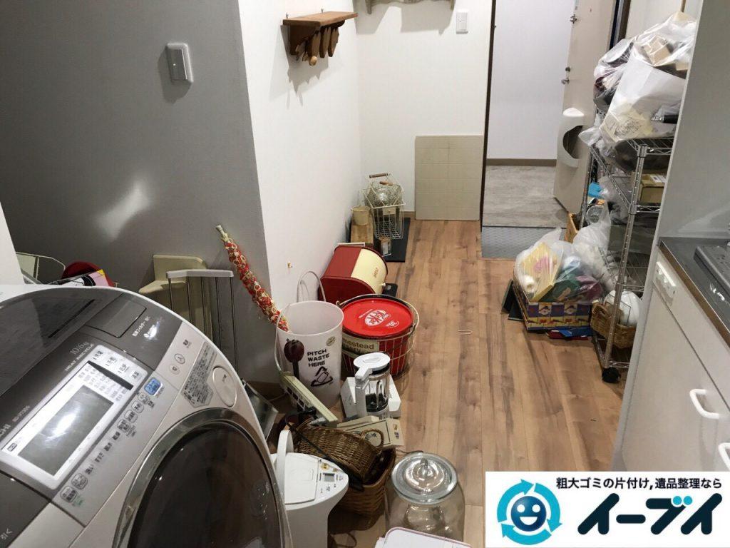 2017年8月22日大阪府東大阪市で洗濯機や家具等の粗大ゴミの不用品回収をしました。写真5