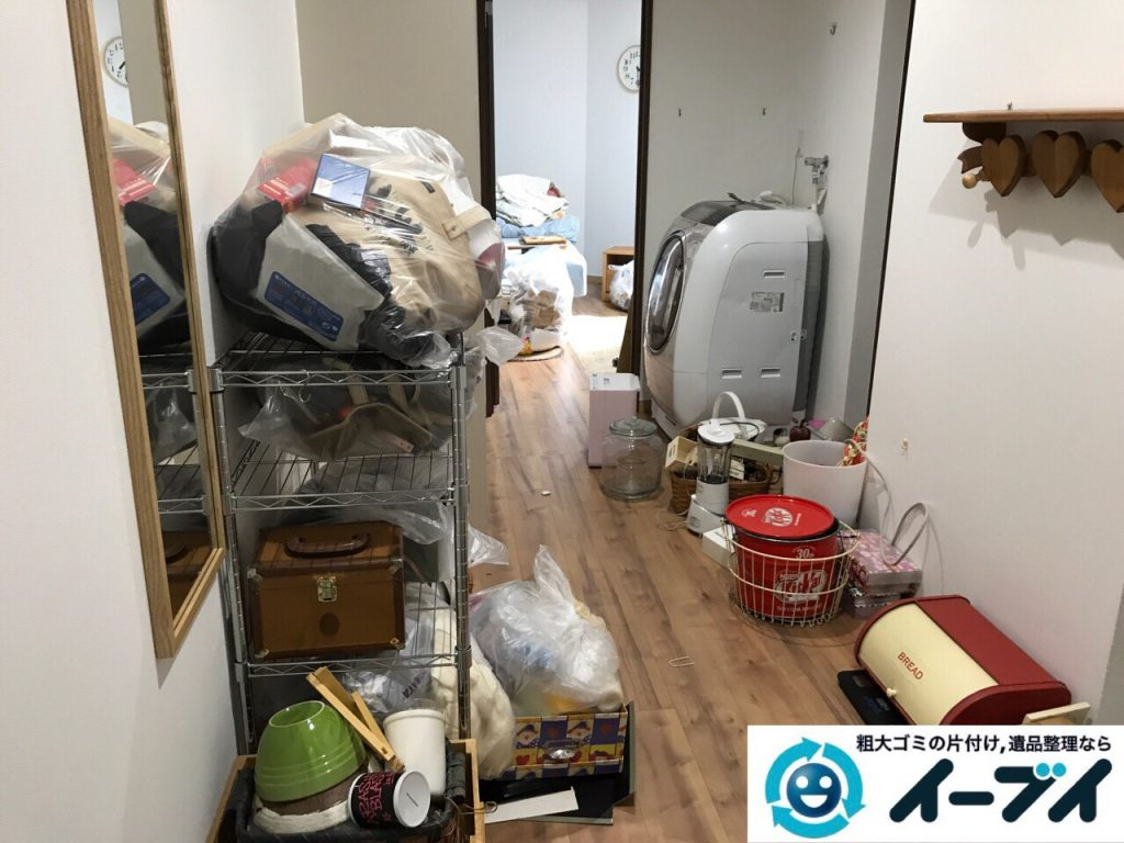 2017年8月22日大阪府東大阪市で洗濯機や家具等の粗大ゴミの不用品回収をしました。写真1