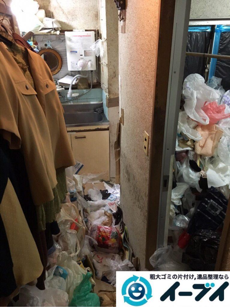 2017年8月5日大阪府池田市でゴミ屋敷の片付けや処分をしました。写真2