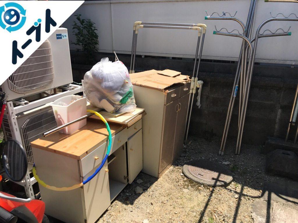 2017年8月7日大阪府池田市で大掃除に伴う片付けで不用品回収を利用していただきました。写真3