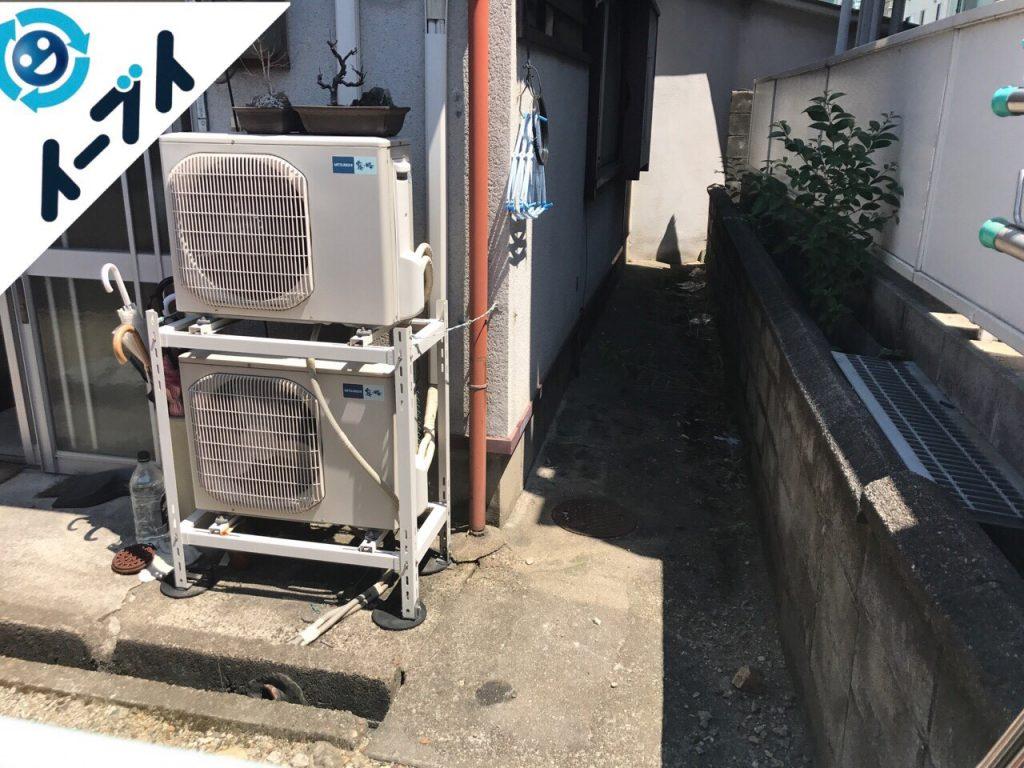 2017年8月7日大阪府池田市で大掃除に伴う片付けで不用品回収を利用していただきました。写真1