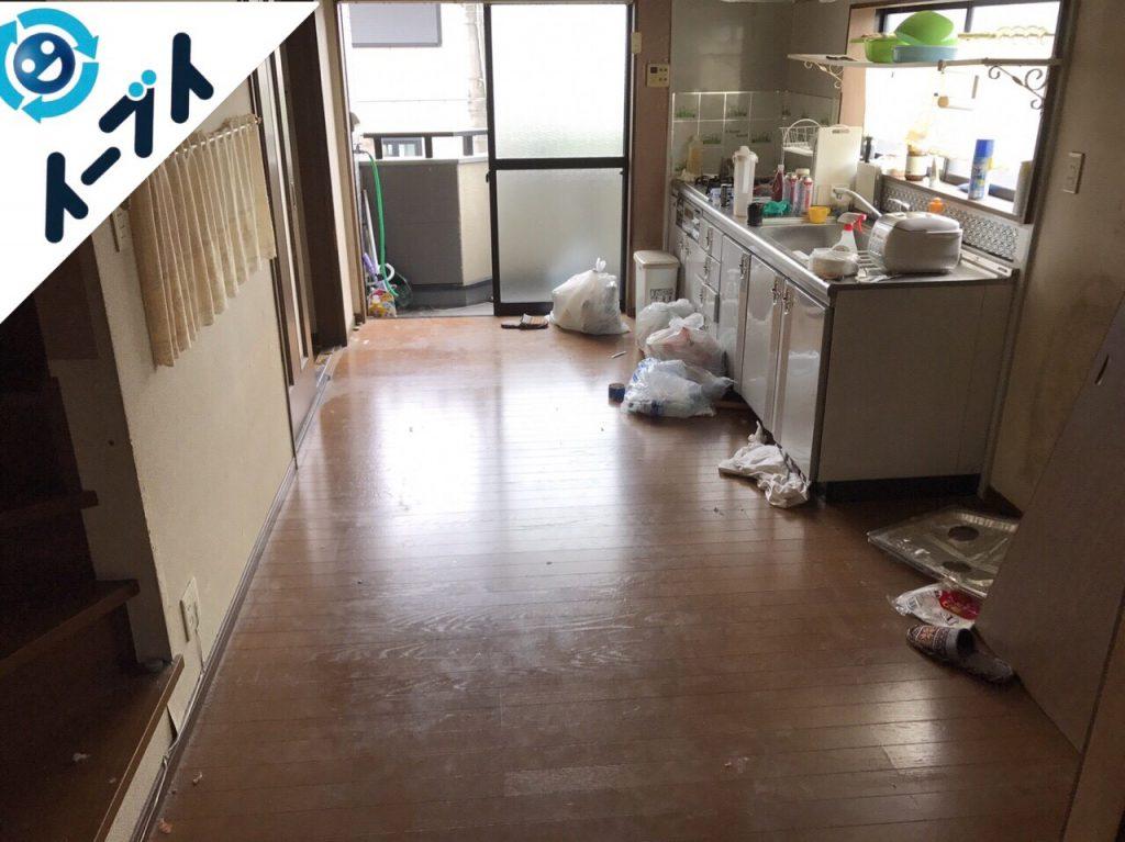 2017年8月14日大阪府豊能町で引越しゴミやソファー等の粗大ゴミや大型ゴミの不用品回収をしました。写真5