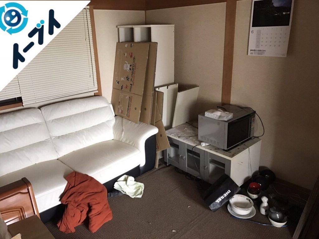 2017年8月14日大阪府豊能町で引越しゴミやソファー等の粗大ゴミや大型ゴミの不用品回収をしました。写真2