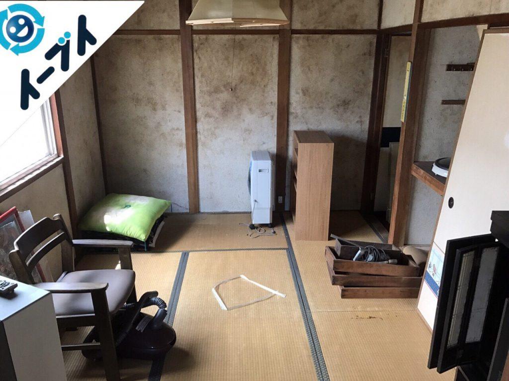 2017年8月20日大阪府能勢町で遺品整理の依頼を受け家具や廃品の処分をしました。写真2