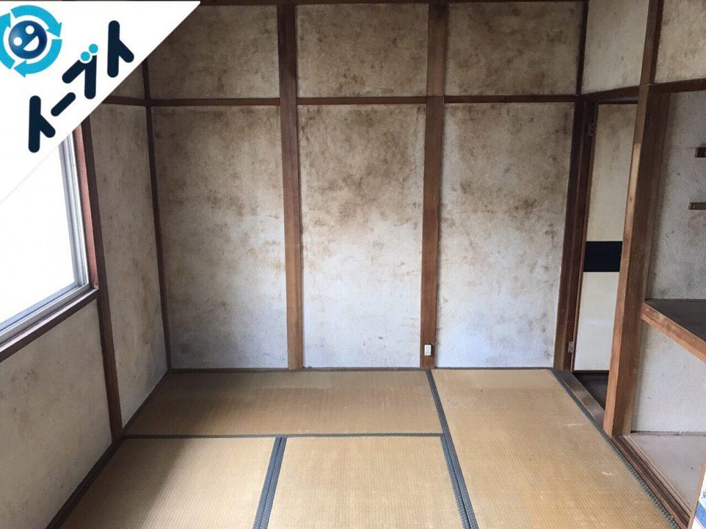 2017年8月20日大阪府能勢町で遺品整理の依頼を受け家具や廃品の処分をしました。写真1