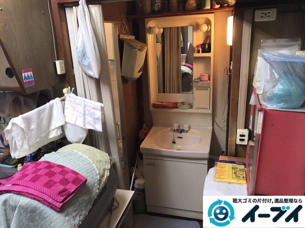 2017年8月19日大阪府能勢町で食器棚や家財道具の粗大ゴミの不用品回収をしました。写真7
