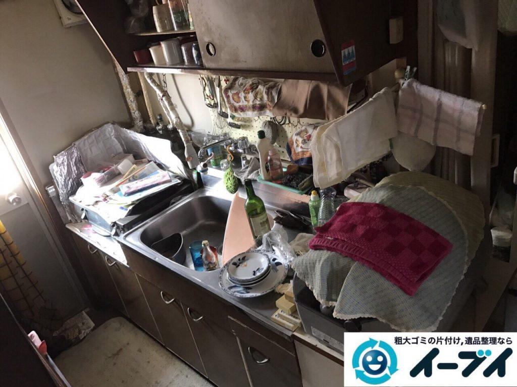 2017年8月19日大阪府能勢町で食器棚や家財道具の粗大ゴミの不用品回収をしました。写真5