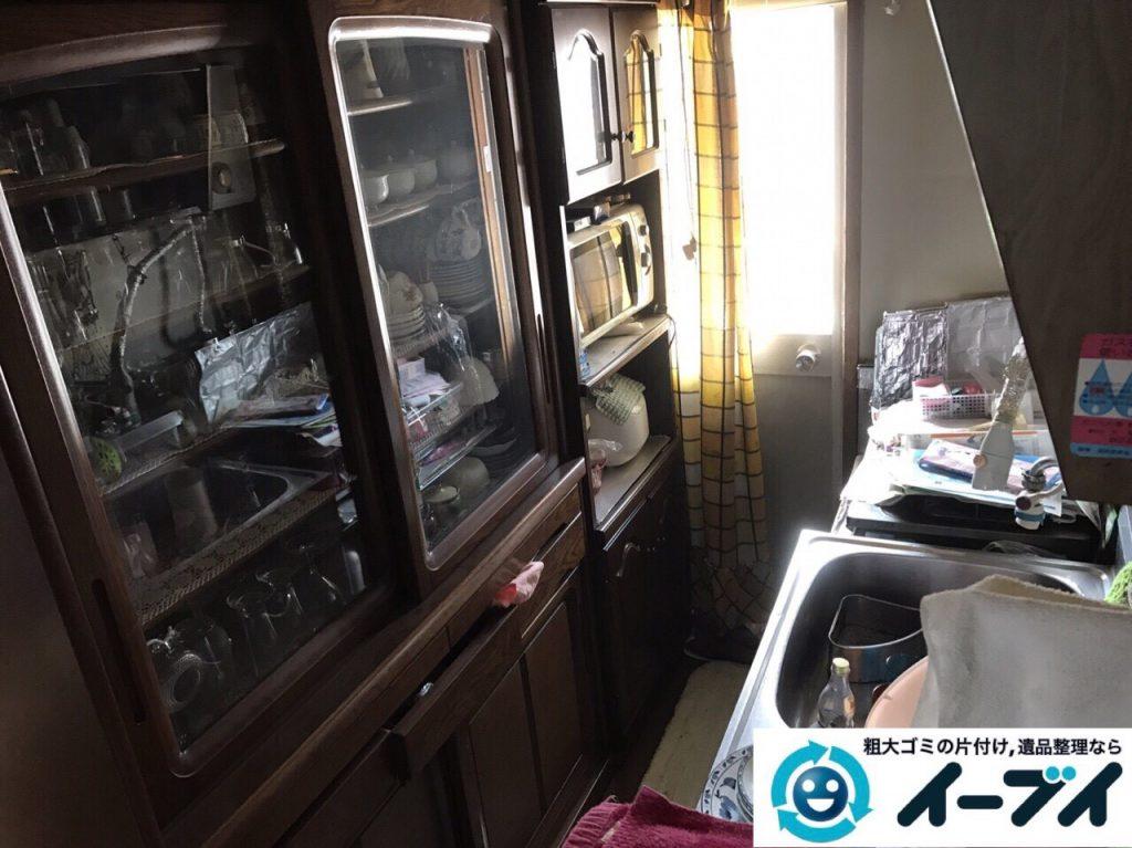 2017年8月19日大阪府能勢町で食器棚や家財道具の粗大ゴミの不用品回収をしました。写真4