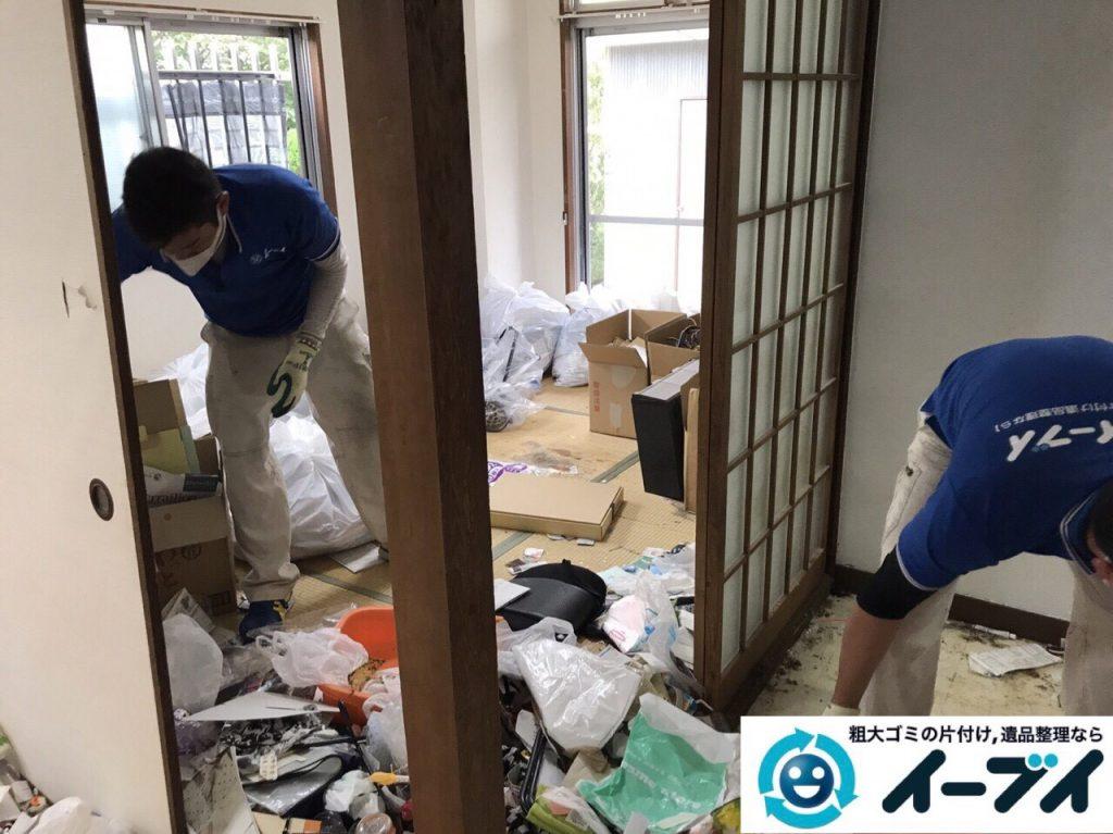 2017年8月26日大阪府大阪市旭区で汚部屋状態のゴミ屋敷の片付けをしました(和室)前編写真9