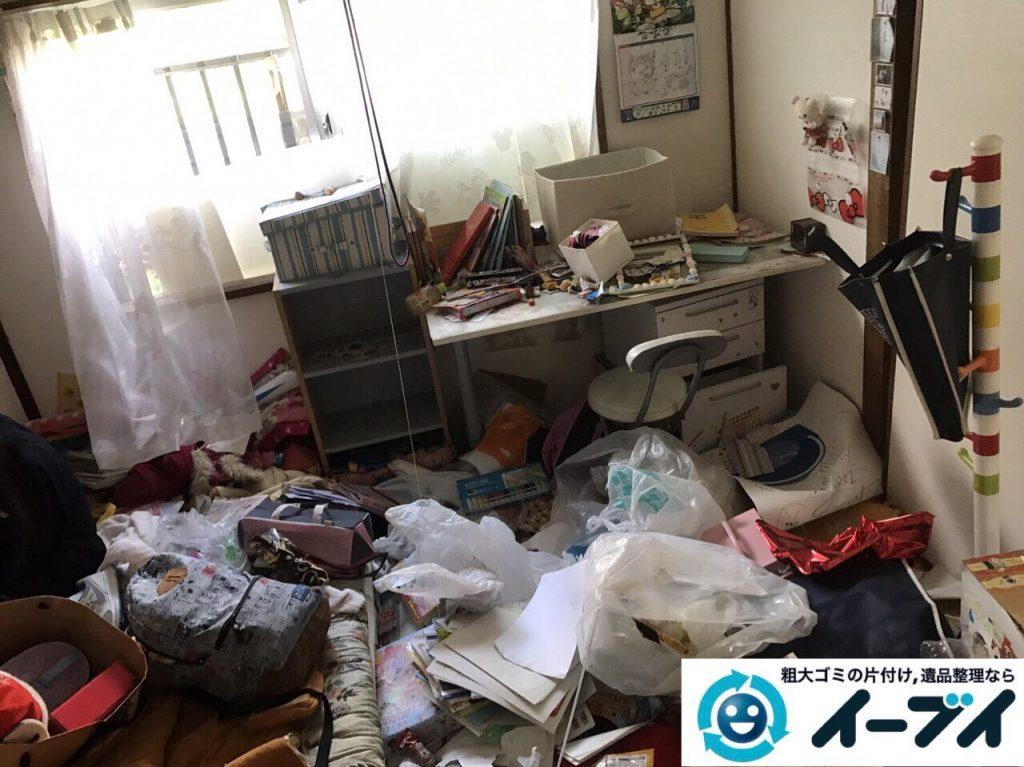 2017年8月26日大阪府大阪市旭区で汚部屋状態のゴミ屋敷の片付けをしました(和室)前編写真2