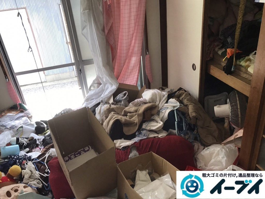 2017年8月26日大阪府大阪市旭区で汚部屋状態のゴミ屋敷の片付けをしました(和室)前編写真8
