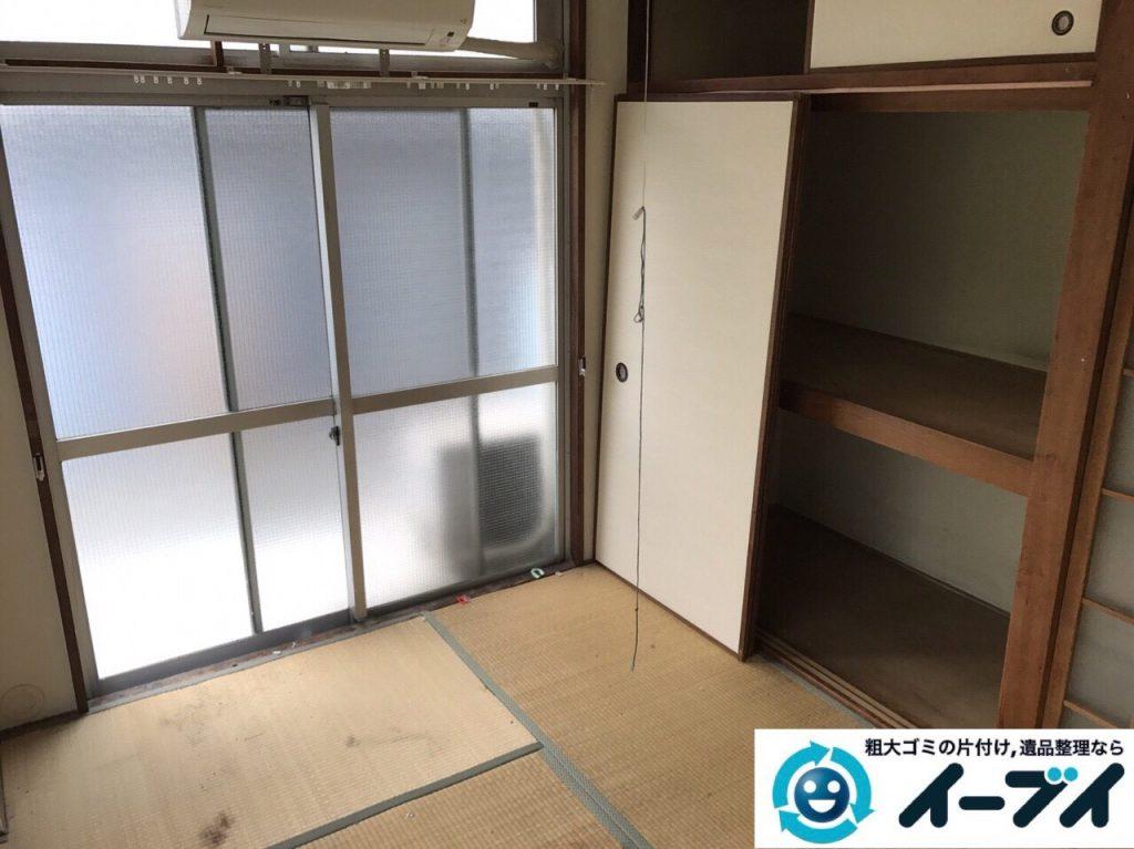 2017年8月26日大阪府大阪市旭区で汚部屋状態のゴミ屋敷の片付けをしました(和室)前編写真7