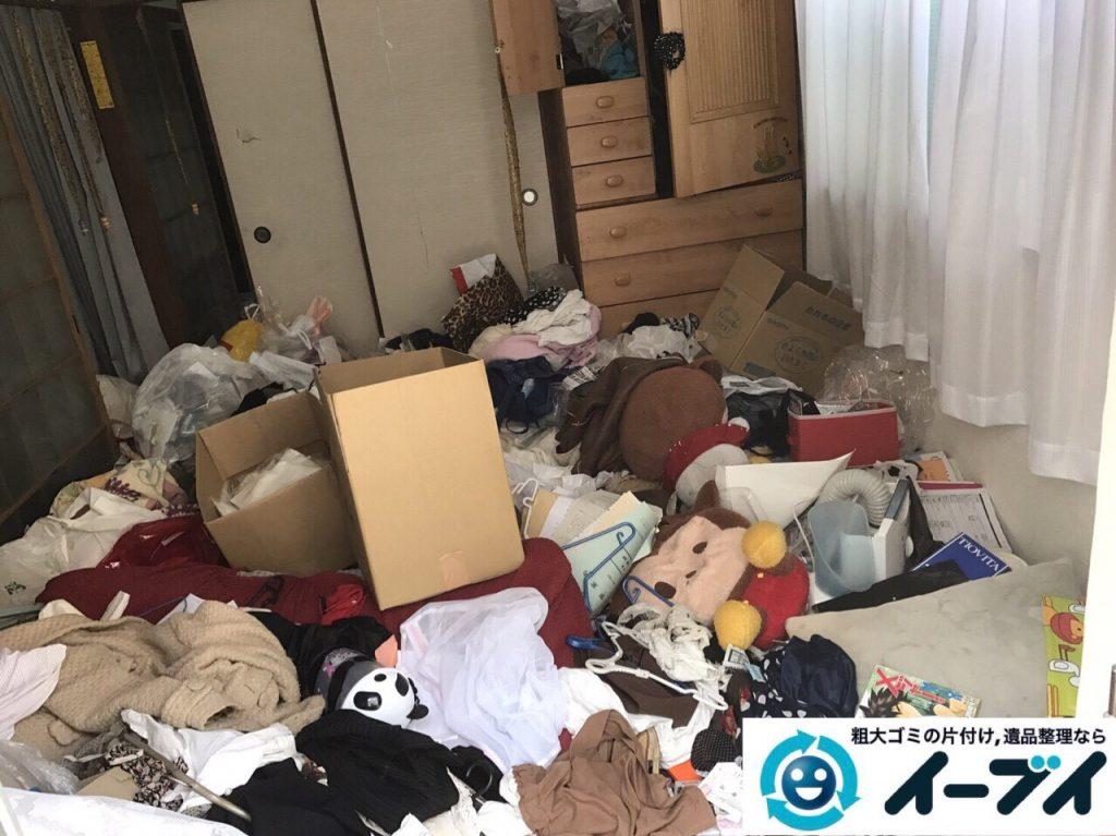 2017年8月26日大阪府大阪市旭区で汚部屋状態のゴミ屋敷の片付けをしました(和室)前編写真6