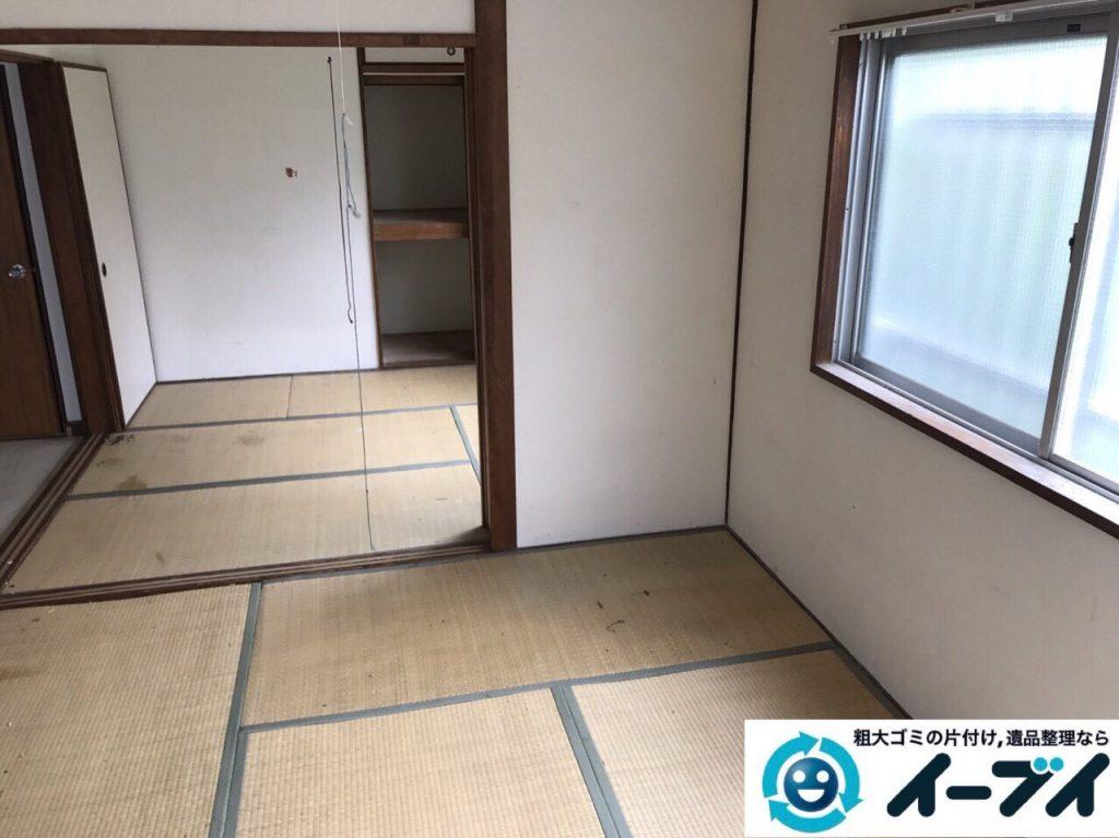 2017年8月26日大阪府大阪市旭区で汚部屋状態のゴミ屋敷の片付けをしました(和室)前編写真5