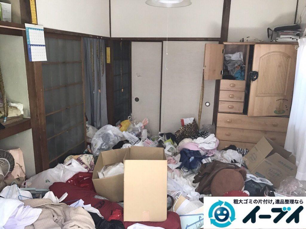 2017年8月26日大阪府大阪市旭区で汚部屋状態のゴミ屋敷の片付けをしました(和室)前編写真4