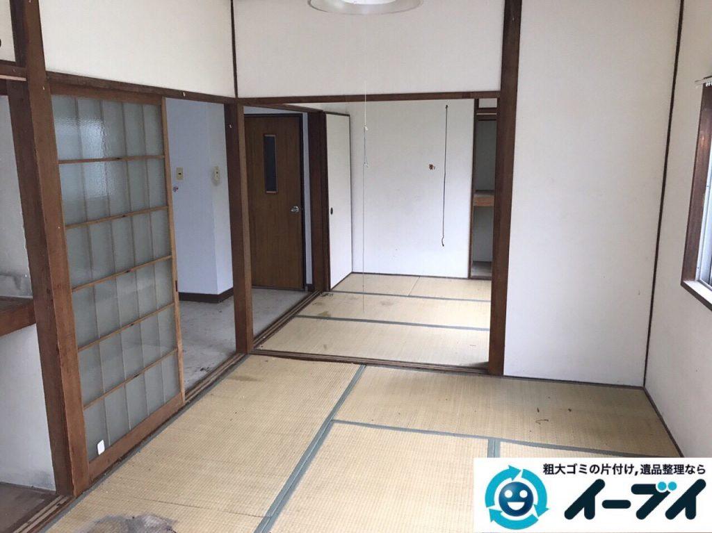 2017年8月26日大阪府大阪市旭区で汚部屋状態のゴミ屋敷の片付けをしました(和室)前編写真3
