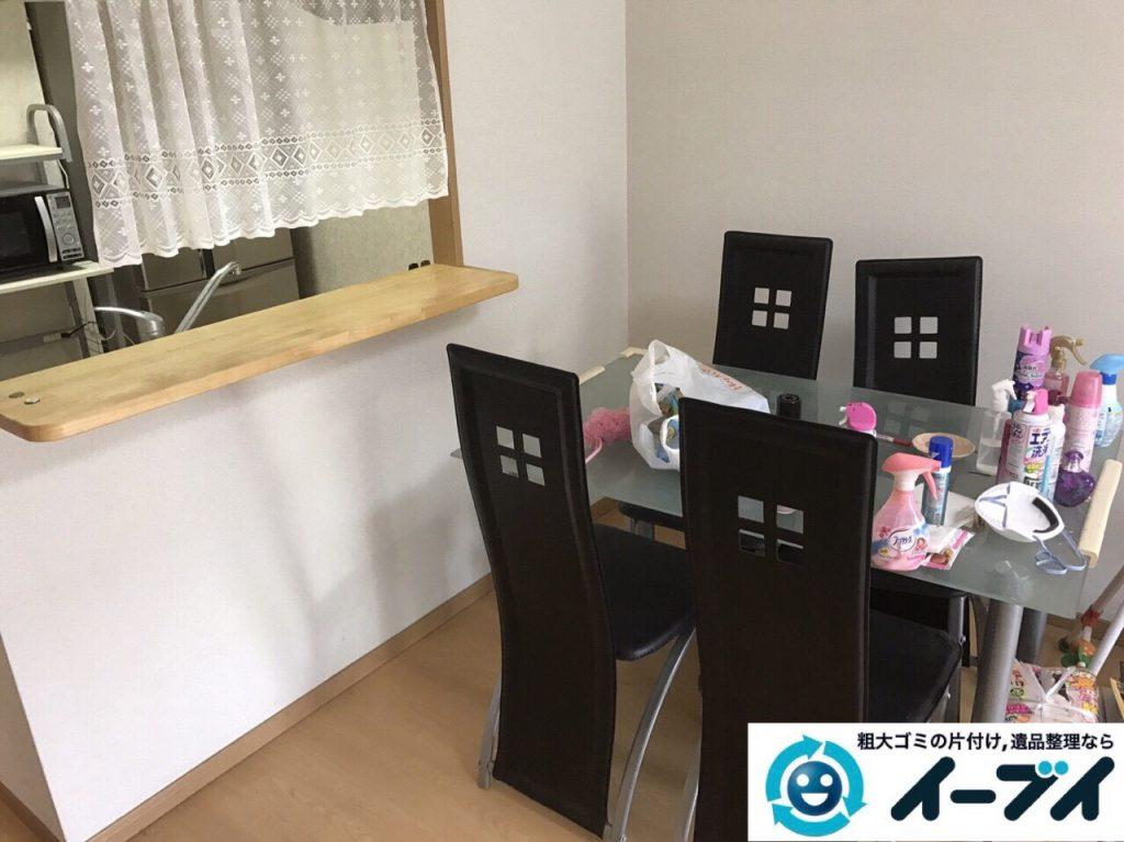 2017年8月11日大阪府枚方市で大掃除に伴い布団や洗濯機の粗大ゴミの不用品回収をしました。写真4