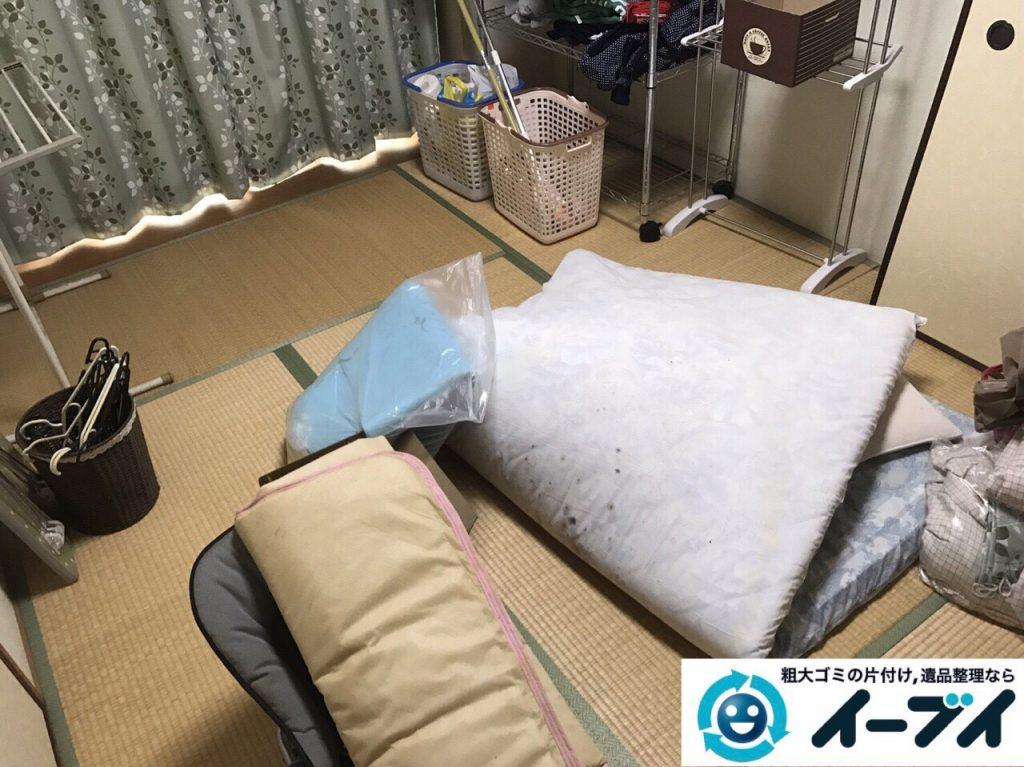 2017年8月11日大阪府枚方市で大掃除に伴い布団や洗濯機の粗大ゴミの不用品回収をしました。写真3