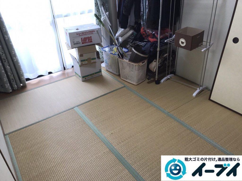 2017年8月11日大阪府枚方市で大掃除に伴い布団や洗濯機の粗大ゴミの不用品回収をしました。写真2