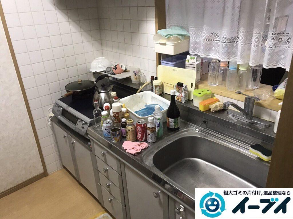 2017年9月1日大阪府大阪市西区大掃除に伴う粗大ゴミや廃品の片付けと不用品回収をしました。写真2