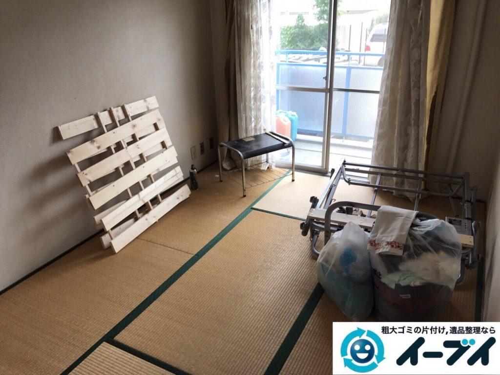 2017年8月28日大阪府大阪市港区で引越し後の布団や物干し竿など粗大ゴミの不用品回収をしました。写真6