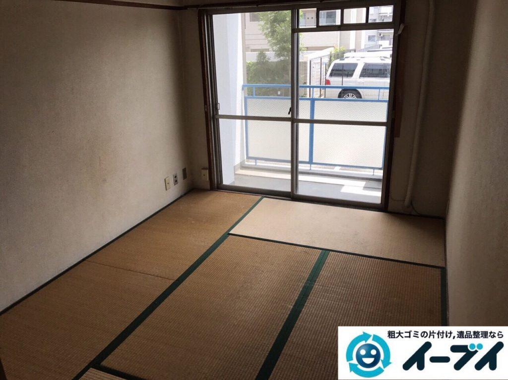 2017年8月28日大阪府大阪市港区で引越し後の布団や物干し竿など粗大ゴミの不用品回収をしました。写真5