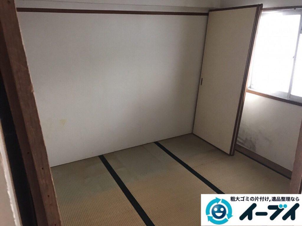 2017年9月3日大阪府大阪市大正区で遺品整理に伴い婚礼家具や粗大ゴミの処分と遺品処分をしました。写真6